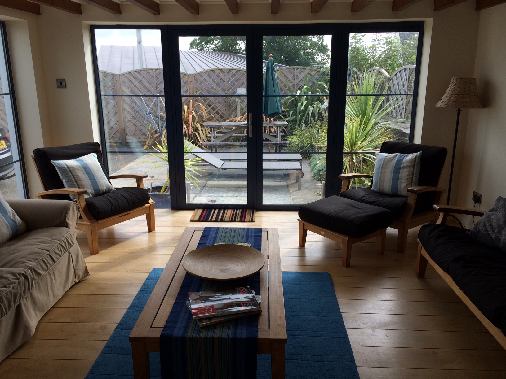 The Large Sunroom Has Lots Of Seating, Under Floor Heating, TV And Large  French Doors Leading To The Safe Enclosed Garden With Garden Furniture, ...
